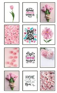 Mothers Day Gift For Mum Framed Prints Set of 3 Wall Art Posters A3 A4