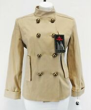 New New York and Company Women Military Coat, Size Medium, light brown, cotton