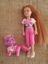 Polly Pocket Doll Girl and Pet Cat Matching Outfits Dresses M49