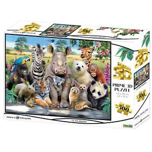 Howard Robinson Prime 3D Class Photo Puzzle 500 Pieces New Hippo Zebra Bear Seal