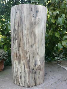 Tabouret Rondin en bois de HETRE echauffé bout canapé, repose plante, tournage