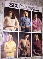 BERNAT Six Wool Classics Sweater Knitting Pattern Booklet 259