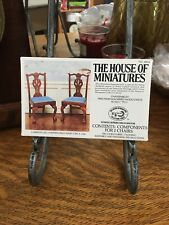 Vintage House of Miniatures Model Cabriole Leg Chippendale Chair 1760 No 40026