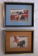 "Bullfighting Pictures Framed & Matted Photographs Spain 9¼"" x 11½"" Matador Bull"