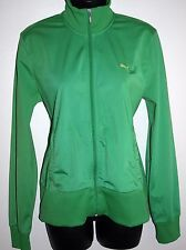 Puma Size XL Womens Full Zip Track Jacket Green Long Sleeve Inner Pockets