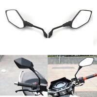1 par motocicleta moto universal 10 mm vista trasera espejo lateral vidrio negro