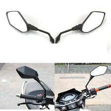 2PCS Universal Motorcycle Rearview Rear View Side Mirror For Yamaha Honda 10mm