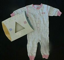 NWT VINTAGE GYMBOREE LAYETTE NEWBORN INFANT BABY GIRL GYMMIES SLEEPER
