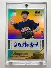 2013 USA Champions GOLD Blake Rutherford 09/10  RC AUTO Chicago White Sox