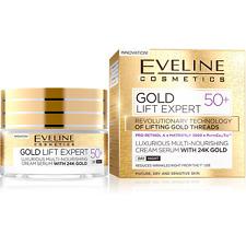 NEW EVELINE Gold Lift Expert Multi Nourishing Day Night Cream Serum 50ml 50+