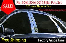 Fiat 500x 2016 2017 8 Piece CHROME PILLAR POST SET Stainless Steel