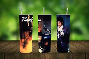 20oz skinny Stainless steel tumbler - Prince Purple Rain