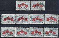 Canada #417(3) 1964 5 cent light blue & dark carmine MAPLE LEAF UNITY 10 Used