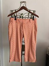 Ann Taylor Pants Long Shorts Orange Printed Capris Cropped Pants Women's Size 2