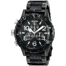 Nixon A0372185 Men's 42-20 Chrono Black Dial Bracelet Lefty Watch