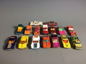 Matchbox Lot of 16 Mod Rod / Piston Popper / Monteverdi / Dodge Wreck / Citroen