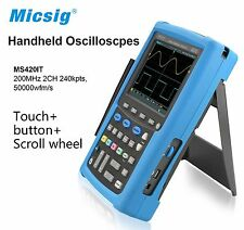 Micsig Handheld Oscilloscope 200 MHz 2 CH Portable Digital Oscilloscope MS420IT