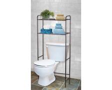 2 Shelf Bathroom Space Saver Over The Toilet Storage Organizer Towel Rack Bronze