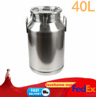 Hot! 40L Stainless Steel Milk Can Wine Pail Bucket Tote Jug in One Piece USA