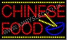 QUALITY FLASHING CHINESE FOOD catering LED sign board new shop signs