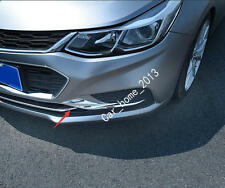 2pcs Car ABS Chrome Front Fog Light Cover Trim For 2017 Chevrolet Cruze Sedan