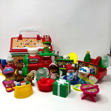 Fisher Price Little People Christmas Gingerbread House Santa Elf Train