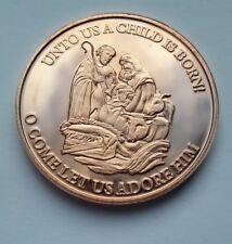 CHRISTMAS NATIVITY CHILD IS BORN 1oz .999 Copper Bullion Round - for charity