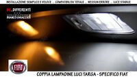 "COPPIA 2 LAMPADINE LUCI LED TARGA BIANCO GHIACCIO ""FIAT STILO"" (2002 - 2007)"