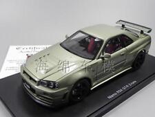 AUTOart 1:18 Nissan GT-R34 Z-Tune Nismo Die Cast Model Green RARE