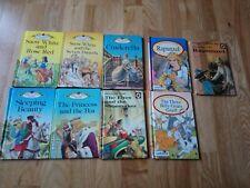 7 Vintage Ladybird 'WLT' Books Series 606D Green Board Cinderella elves Rose red