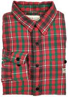 Ralph Lauren Denim Supply Shirt Large Mens Long Sleeve Button Down Plaid Size L