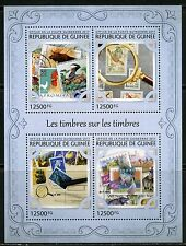 GUINEA 2017  STAMP ON STAMP SHEET MINT NH