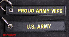 US ARMY PROUD WIFE KEYCHAIN UNITED STATE MILITARY GIFT SOLDIERS WOW!!