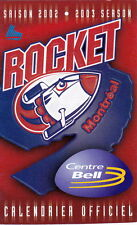 2002-03 MONTREAL ROCKET HOCKEY POCKET SCHEDULE - FRENCH