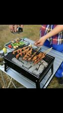 PORTABLE BBQ GRILL FOLDING CHARCOAL CAMPING GARDEN OUTDOOR BARBECUE