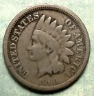 1860 Indian Head Penny G+ CHOICE GOOD Abe ELECTED! LOW 20 Million Pre CIVIL War! for sale