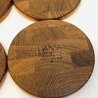 VTG Set of 8 Dansk Denmark Teak Wood Coasters IHQ Quistgaard Mid Century Modern