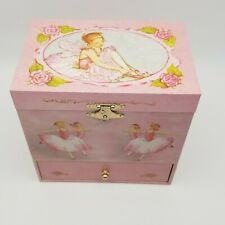 Enchantmints Jewelry Music Box Ballerina Fairy Swan Lake Pink New