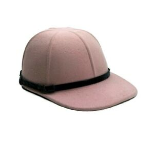 MADE IN ITALY HAT CAP MÜTZE DESIGNER BASEBALL MADE ITALY 100% WOOL SIZE 58 PINK