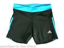 Adidas Damen Tight kurze Hose Sporthose enge Fitnesshose schwarz bau 36 NEU