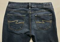 Silver Jeans Aiko Boot Cut Womens Blue Denim Size 28 x 33 Dark Wash Low Rise EUC