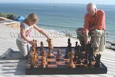 """MegaChess Giant Teak Chess Set with a 12"""" King"""