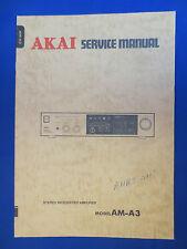 AKAI AM-A3 INTEGRATED AMPLIFIER SERVICE MANUAL ORIGINAL FACTORY ISSUE