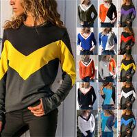 Women Long Sleeve Loose Blouse T-Shirt Pullover Jumper Autumn Casual Tops Shirt