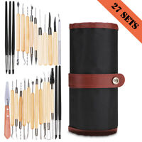 27Pcs Clay Sculpting Set Carving Pottery Sculpture Shaping Tools Woodworking