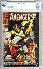 AVENGERS #51 (1968)  CBCS 8.0 Very Fine Off-White pages Collector Appearance
