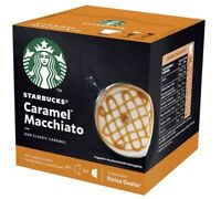 12 x Starbucks Caramel Macchiato coffee pods capsules by Nescafe Dolce Gusto