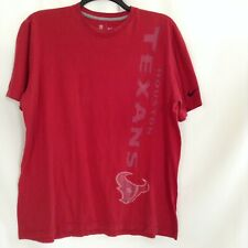 Nike Mens Red Texans Houston NFL Apparel Cotton Graphic Tee T Shirt Size XLarge