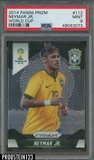 2014 Panini Prizm Soccer World Cup #112 Neymar Jr. Brazil PSA 9 MINT
