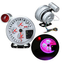 "4.7"" 4 IN 1 LED 11K RPM Tachometer Volt Oil Water Temp Gauge W/ Red Shite Light"